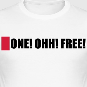 EN! OHH! GRATIS! - Slim Fit T-shirt herr