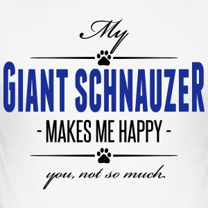 My Giant Schnauzer makes me happy - Männer Slim Fit T-Shirt