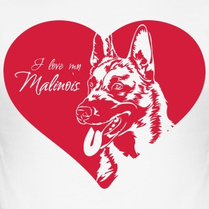 I love my Malinois - Men's Slim Fit T-Shirt