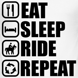 Eat, sleep, ride, riding, horse - Men's Slim Fit T-Shirt