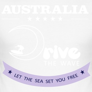Australië Drive The Wave 02 - slim fit T-shirt
