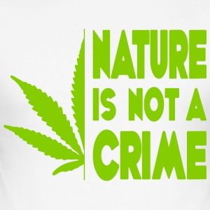 nature is not a crime - Men's Slim Fit T-Shirt