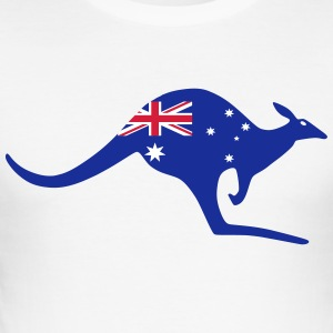 Australia kenguru - Slim Fit T-skjorte for menn