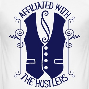 Affiliated with the hustlers - Männer Slim Fit T-Shirt