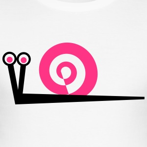 Snail in pink - Men's Slim Fit T-Shirt