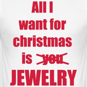 Christmas song saying Jewelry - Men's Slim Fit T-Shirt