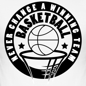 Basketball nie change a winning team - Männer Slim Fit T-Shirt