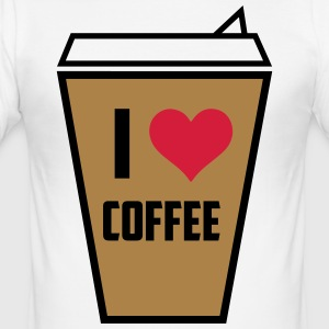I love coffee 3 - Men's Slim Fit T-Shirt