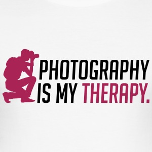Photography is my therapy - Men's Slim Fit T-Shirt
