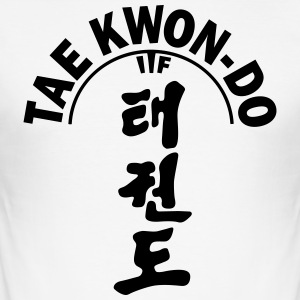 ITF Tae Kwon Do symbols - Men's Slim Fit T-Shirt