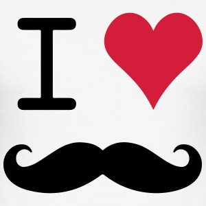 I Love mustache - slim fit T-shirt