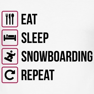 Eat Sleep Snowboarding Repeat - Männer Slim Fit T-Shirt