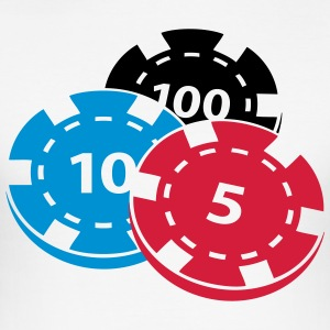 Poker chips - Herre Slim Fit T-Shirt