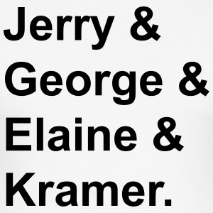 Jerry & George & Elaine & Kramer. - Männer Slim Fit T-Shirt
