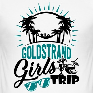 Goldstrand Girls Trip - Männer Slim Fit T-Shirt