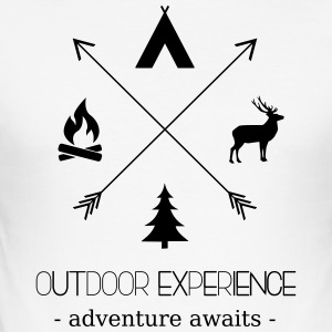Outdoor Experience Adventure Awaits - Men's Slim Fit T-Shirt