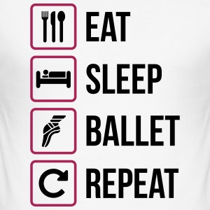 Eat Sleep Ballet Repeat - Men's Slim Fit T-Shirt