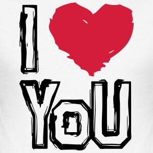 I LOVE U - Männer Slim Fit T-Shirt