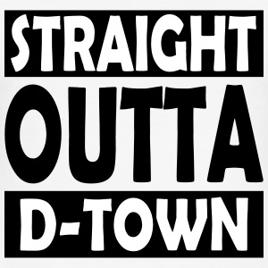 Straight Outta D-Town - Herre Slim Fit T-Shirt