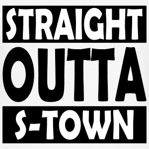 Straight Outta S-Town - Herre Slim Fit T-Shirt