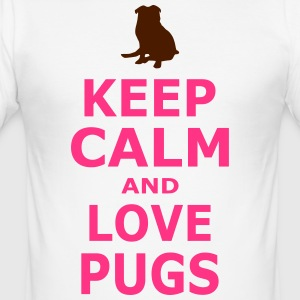 Keep Calm and LOVE mops - SIMPLE - Slim Fit T-skjorte for menn