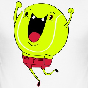 Jubilant Tennis Ball - Men's Slim Fit T-Shirt