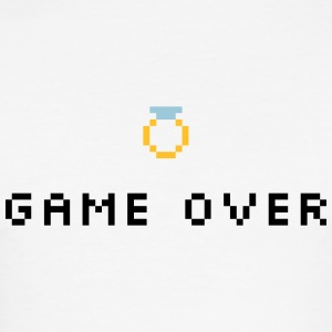 Game Over Wedding Ring - Slim Fit T-shirt herr