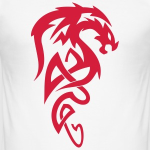 Tribal Dragon - Men's Slim Fit T-Shirt
