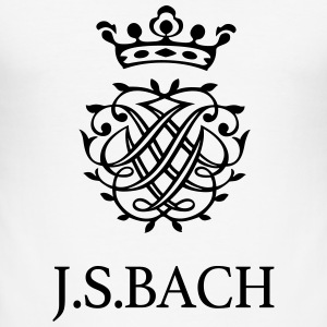 JS Bach og hans segl - Slim Fit T-skjorte for menn