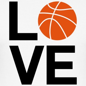basketball_love - Slim Fit T-skjorte for menn
