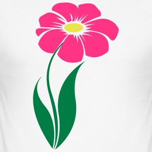 blomst rosa - Slim Fit T-skjorte for menn