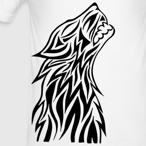 tribal Wolf - Slim Fit T-shirt herr