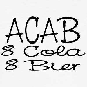 ACAB - eight Cola eight beer - Men's Slim Fit T-Shirt
