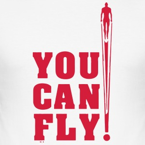 you can fly hero RED - Men's Slim Fit T-Shirt
