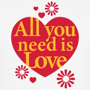 All you need is Love Hearts Hearts Flowers Flowers - Men's Slim Fit T-Shirt