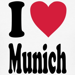 I love Munich - Männer Slim Fit T-Shirt