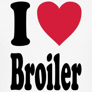 I love Broiler - Männer Slim Fit T-Shirt