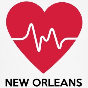 Heart New Orleans - Herre Slim Fit T-Shirt
