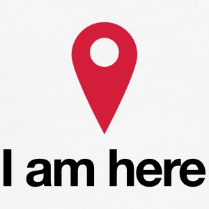 Geolocation - I am Here - Men's Slim Fit T-Shirt