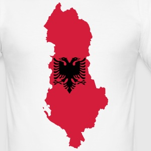 stolt Albania - Slim Fit T-skjorte for menn