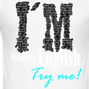 Try me - Inglés students - Men's Slim Fit T-Shirt