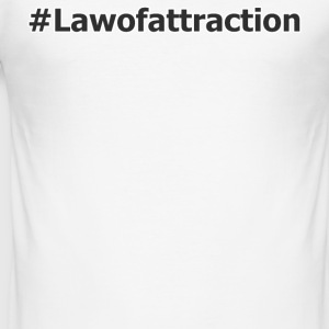 hahstag lawofattraction - Tee shirt près du corps Homme