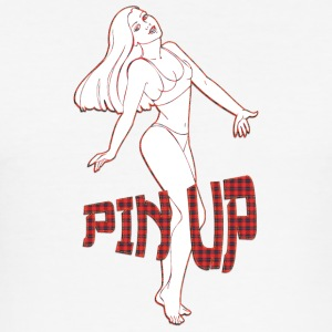 pin up flicka 2 - Slim Fit T-shirt herr