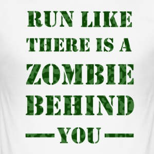 Zombie Runner Camo - Herre Slim Fit T-Shirt