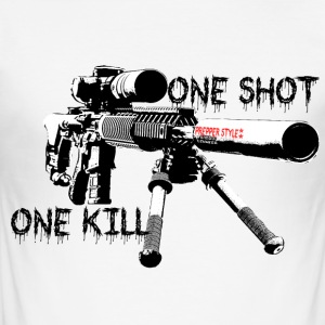 sniper ONe KILL ONe Shot - Männer Slim Fit T-Shirt