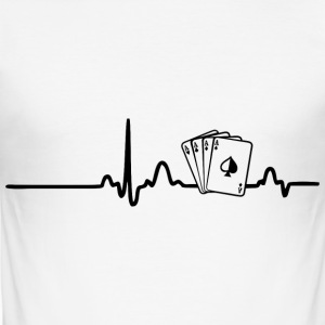 EKG Poker Player svart - Slim Fit T-skjorte for menn