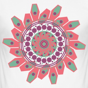MANDALA - YOGA - BUDDHA T-SHIRT - Herre Slim Fit T-Shirt