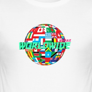 weruleworldwide Globe v2 - slim fit T-shirt