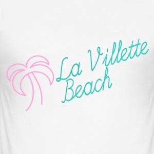 La Villette strand rosa mynte - Slim Fit T-skjorte for menn
