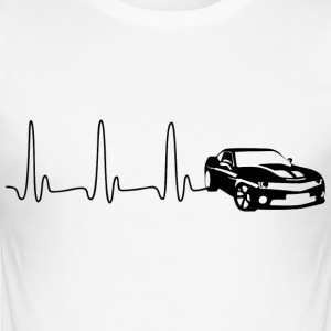 EKG-hjärta fodrar SPORTS CAR svart - Slim Fit T-shirt herr